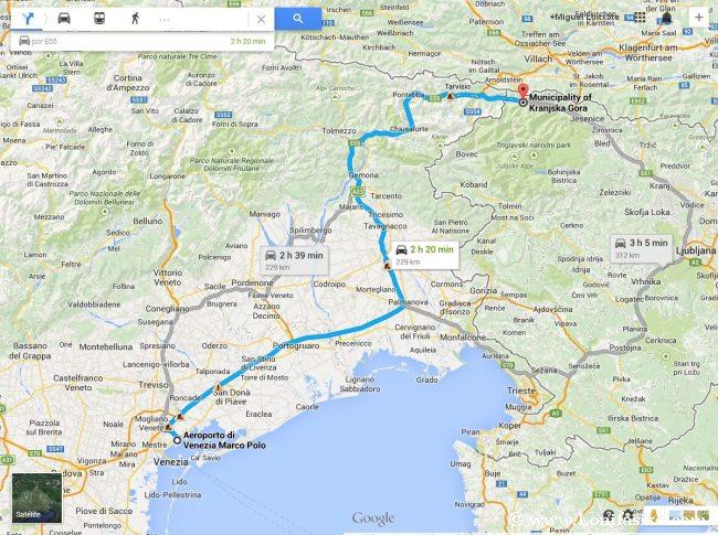 Ruta para ir en coche desde Italia a Eslovenia por Tarvisio y los Alpes Julianos