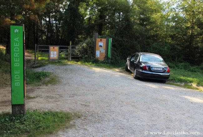 Danborre, entrada a la vía verde desde la parte de Ormaiztegi