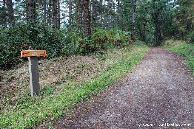 Señalización en la vía verde de Mutiloa-Ormaiztegi