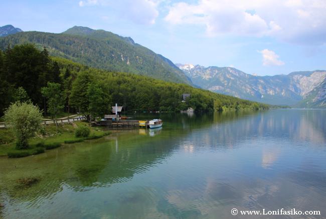 Navegar por el lago Bohinj