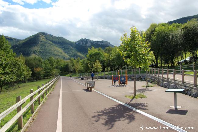 Área recreativa del embalse de Urkulu