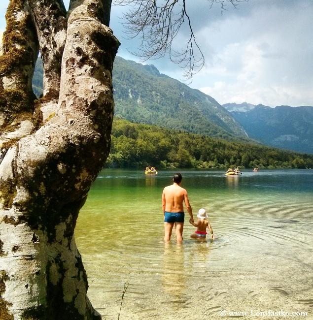 Dónde bañarse en el lago Bohinj