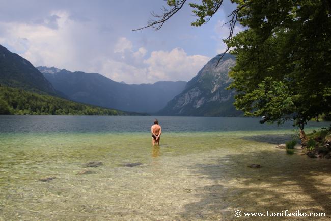 Tranquilidad y relax en el lago Bohinj