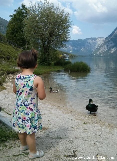 Lago Bohinj con niños
