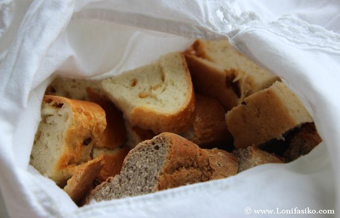 Pan esloveno de diferentes tipos