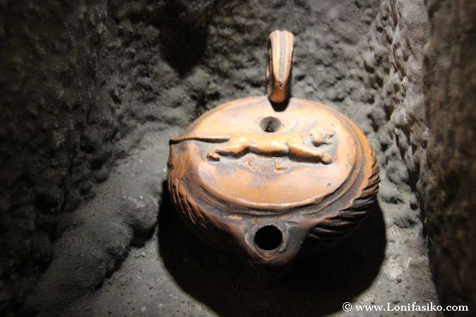 Reproducción de utensilio romano utilizado en las minas de Arditurri