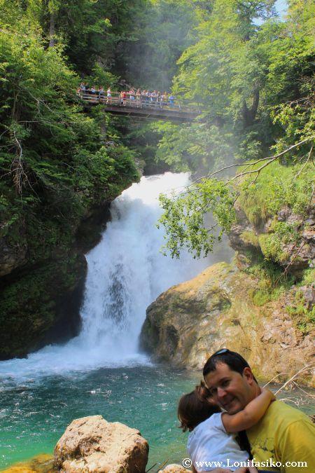 Cascada Sum, punto y final del recorrido por la garganta de Vintgar