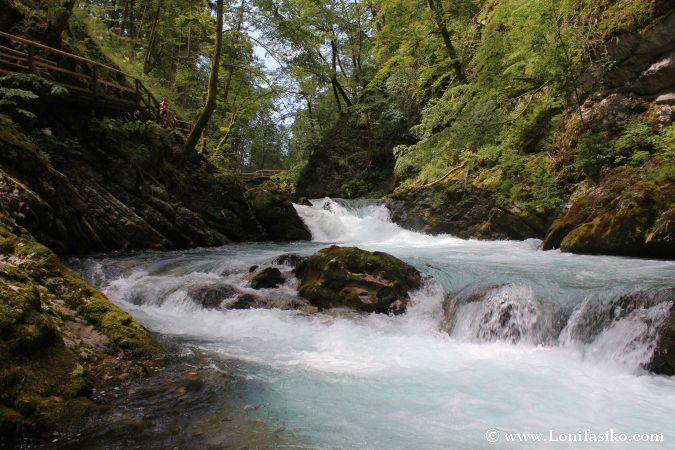 Rápidos del río Radovna en la Garganta de Vintgar