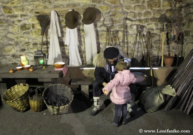 Ver la llegada de Olentzero en la ferrería de Mirandaola