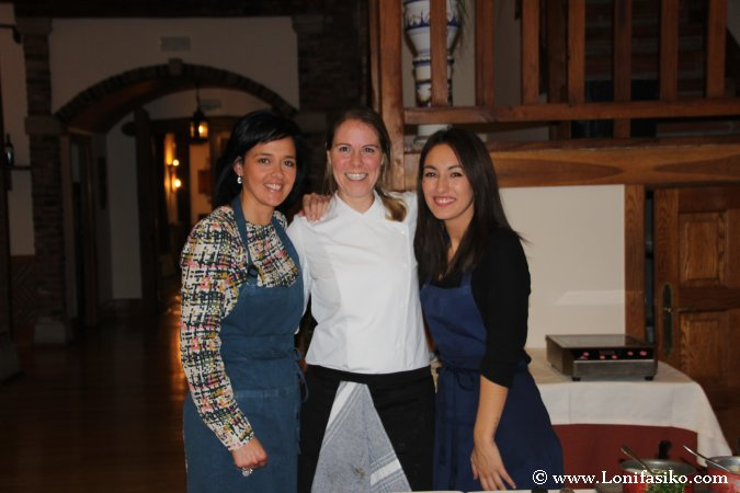 Con Zuriñe García, chef del restaurante Andra Mari