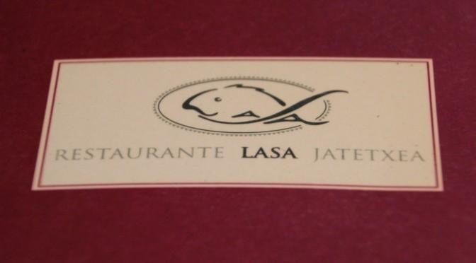Carta del restaurante Lasa