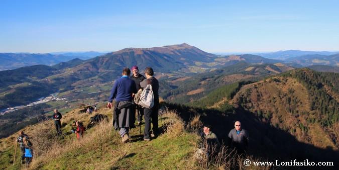 Monte Oiz desde la cima de Urko