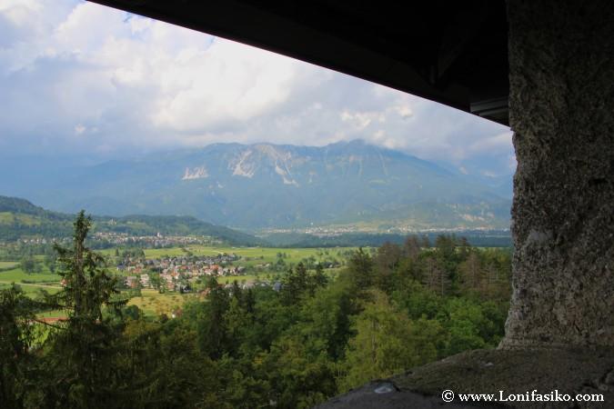 Zona defensiva del castillo de Bled