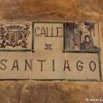 Placa de calle en Albarracín