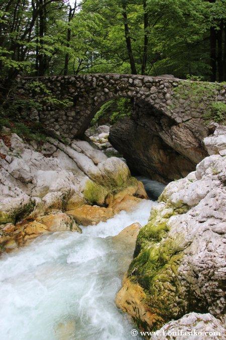Puente donde comienza la subida a la cascada Savica