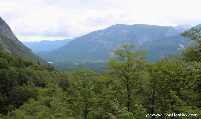Vistas sobre el valle del lago Bohinj