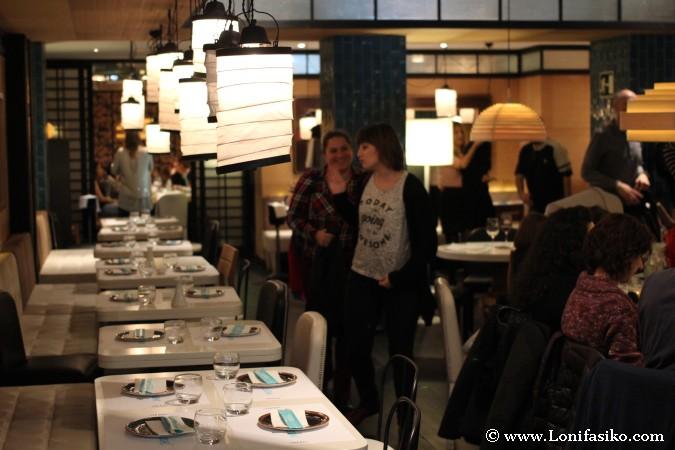 Comedor del restaurante Miu en Bilbao