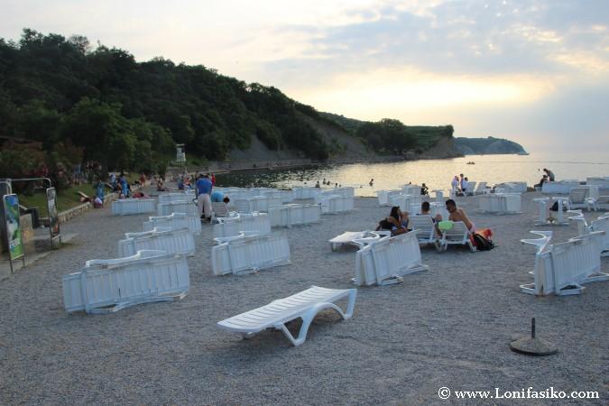 Playa en la zona Oeste de Izola