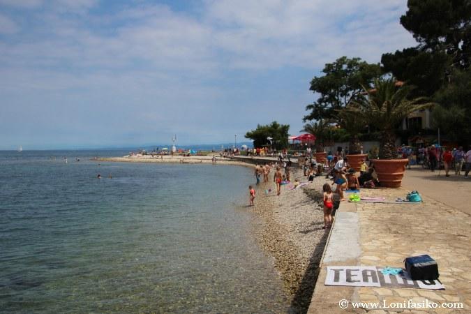Zona de playa en Izola