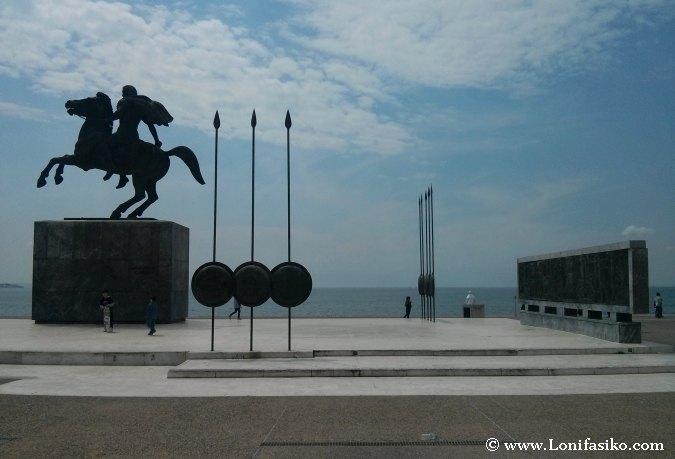 Estatua Alejandro Magno en Salónica