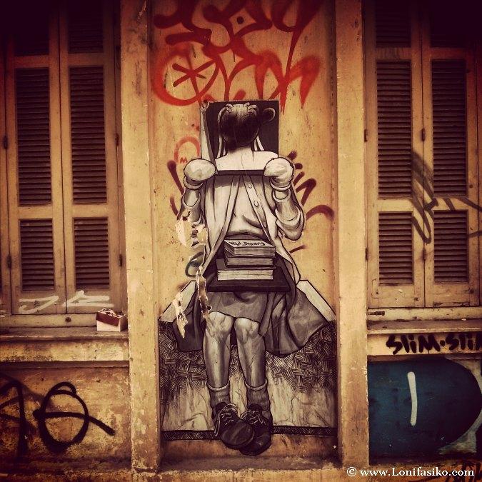 Pintadas Reivindicativas Crisis Griega