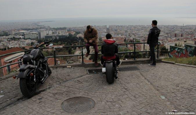 Salónica desde las murallas de la ciudad