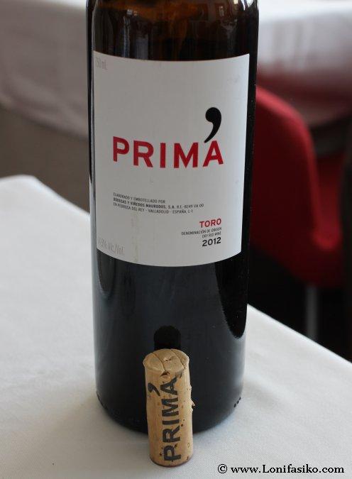 Prima vino tinto de Toro elaborado en Pedrosa del Rey, Valladolid