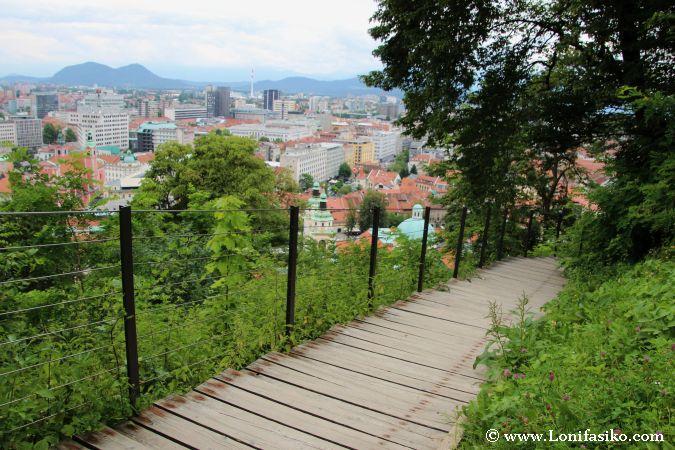 Cómo acceder a pie al Castillo de Liubliana