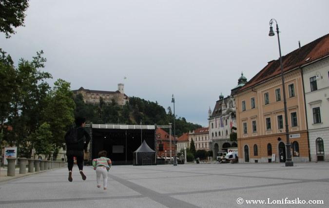 Liubliana con niños en un dia