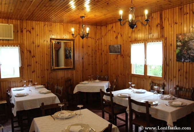 Comedor del restaurante Gaztainuzketa