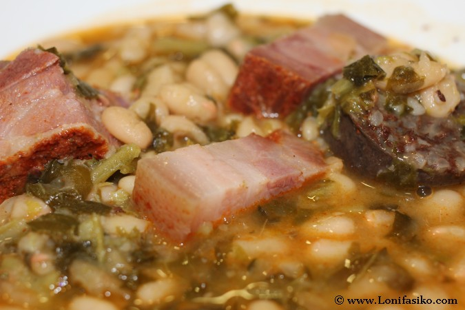 Ingredientes del cocido montañés en Cantabria