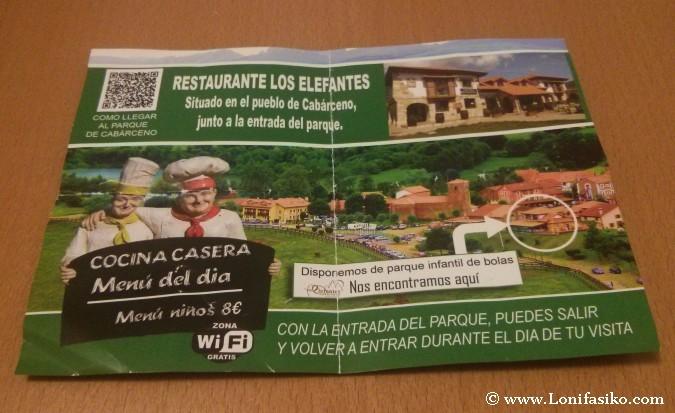 Publicidad del Restaurante Los Elefantes