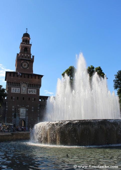 Entrada principal Castillo de Milán