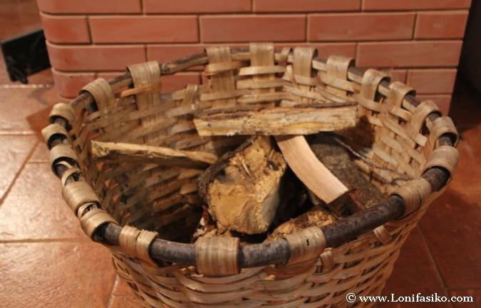 Leña para chimenea