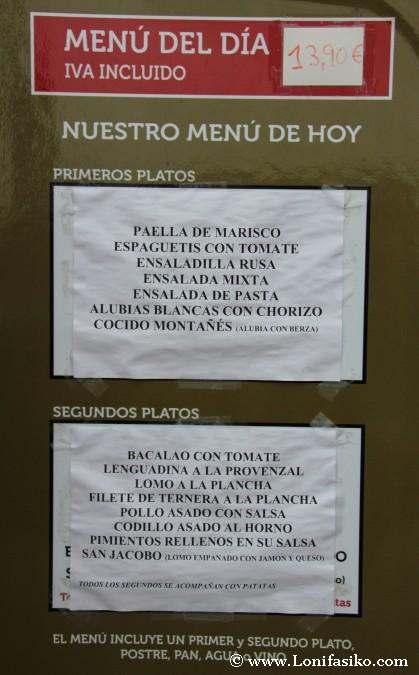 Comer de menú en Cabárceno