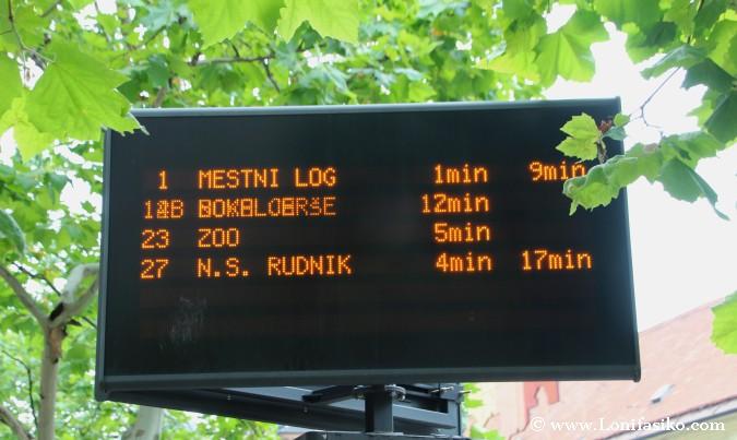 Transporte público al zoo de Liubliana