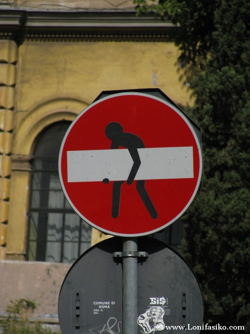 Señales de tráfico en Roma
