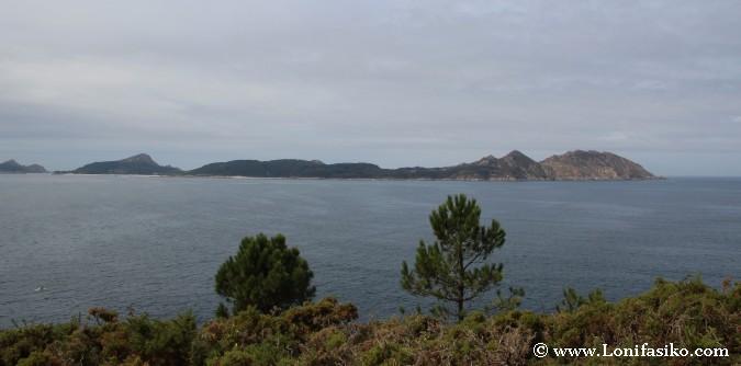 Mirador Islas Cíes desde el faro de Punta Subrido