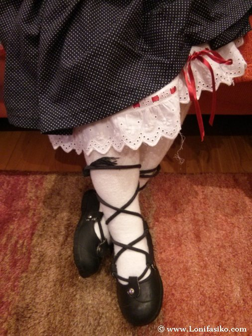 Típico traje vasco de neska