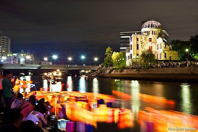 Toro Nagashi en Hiroshima