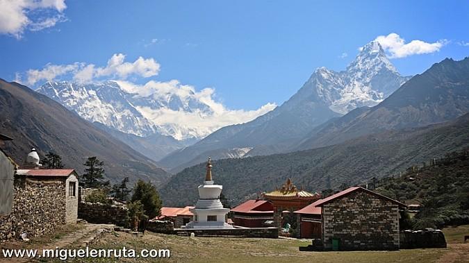 Montañas del Himalaya desde Tengboche