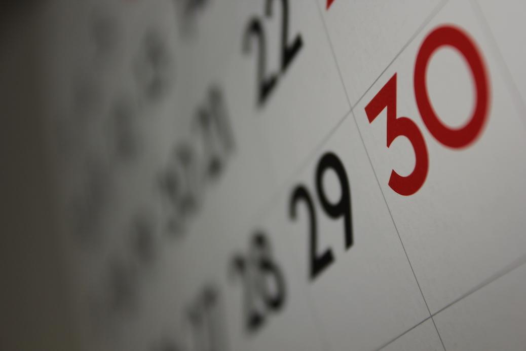 Actualizar calendario de alojamientos