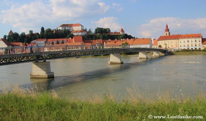Fotos de Ptuj desde la orilla del río Drava
