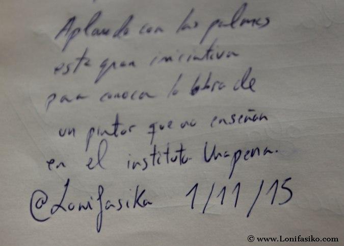 Libro de firmas del Museo Palmero