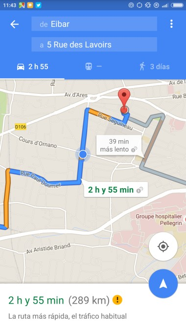 Utilizar Google Maps offline