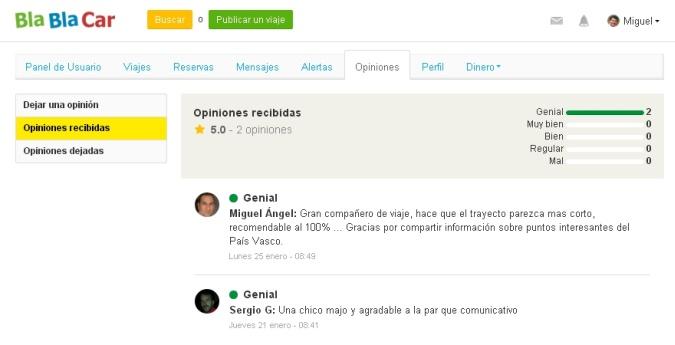 BlaBlaCar Opiniones de usuarios