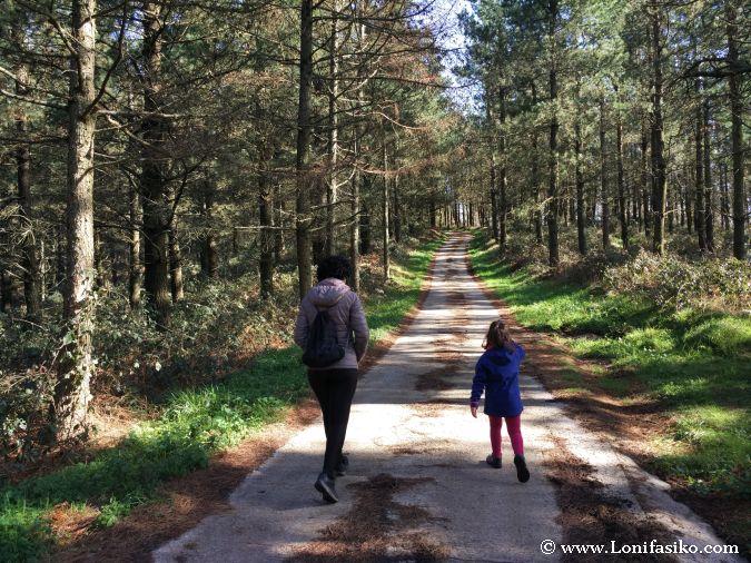 Senderismo con niños en Euskadi
