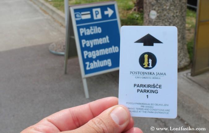 Cuevas Postojna Aparcamiento parking