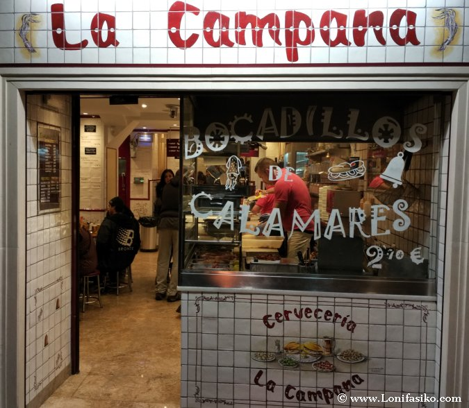 Dónde comer los mejores bocadillos de calamares en Madrid