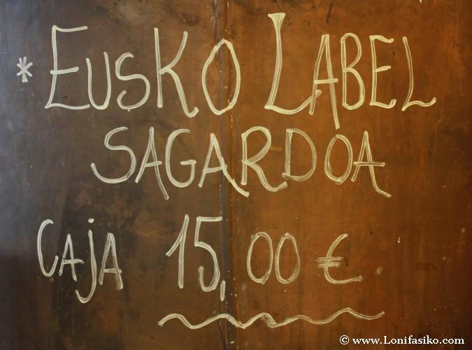 Sidra vasca Eusko Label